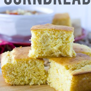 Sour Cream Cornbread with text overlay for Pinterest