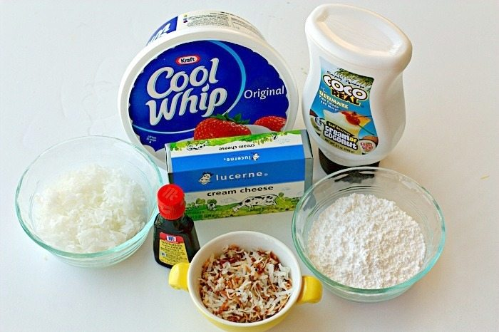 Coocnut Cream Pie Cheesecake Dip Ingredients