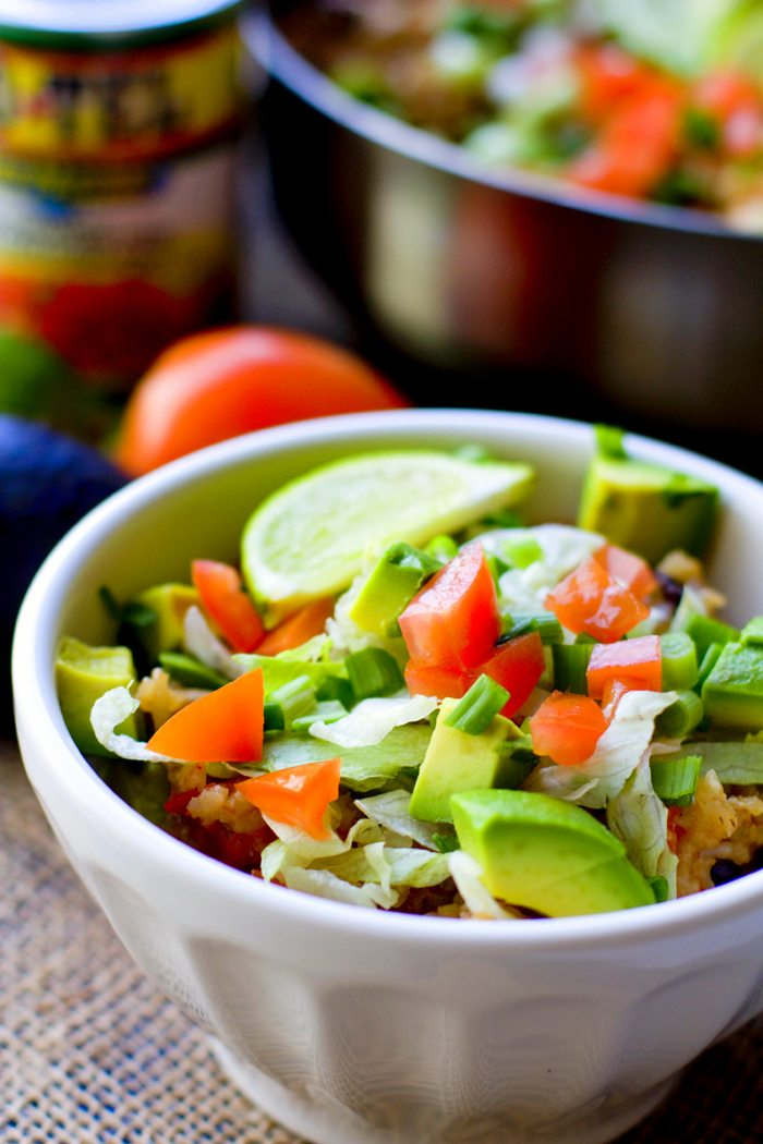 One Pot Chicken Burrito Bowls Recipe 4