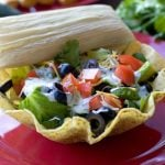 Tamale Taco Salad on a plate