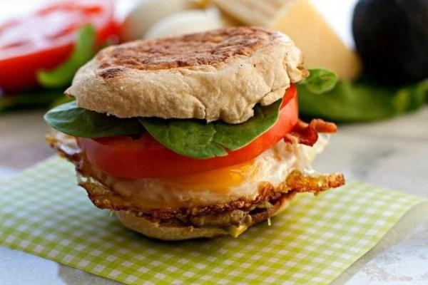 Egg Cheddar Bacon Sandwich