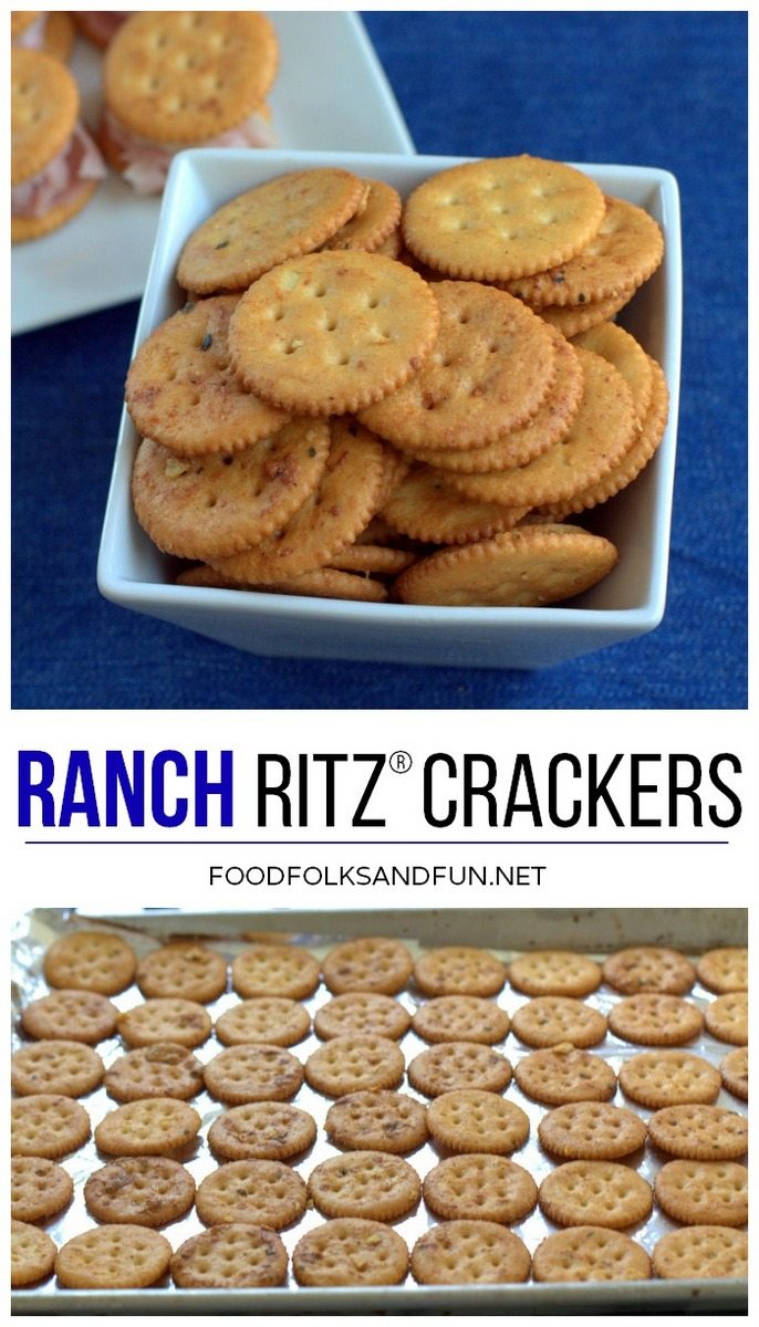 Picture collage of Ranch RITZ Crackers Recipe