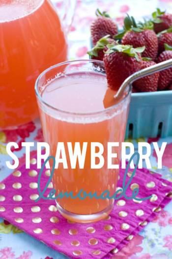 Easy Recipe Strawberry Lemonade - homemade