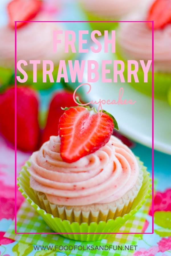 Fresh Strawberry Cupcakes Recipe
