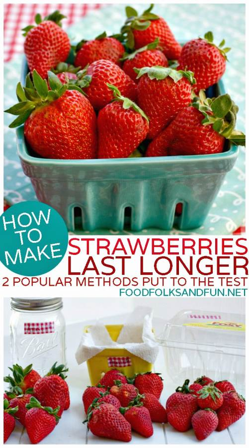 How to make Strawberries Last Longer - 2 Methods Put to the Test