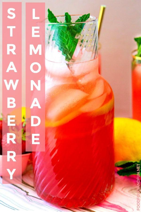 Strawberry Lemonade that makes 1 gallon of lemonade!