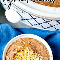 Restaurant Style Refried Beans Recipe - made in the slow cooker!