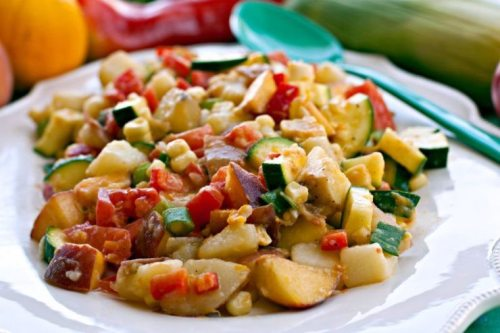 Summer's Best Potato Salad - I love this potato salad because it uses a ton of the summer's best in-season produce and no mayonnaise! It's zesty and the entire family will love it!Summer's Best Potato Salad - I love this potato salad because it uses a ton of the summer's best in-season produce and no mayonnaise! It's zesty and the entire family will love it!