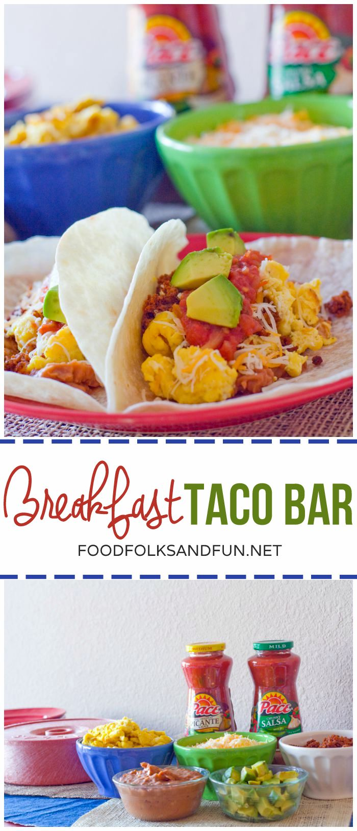 This Breakfast Taco Bar is my secret weapon for out of town guests or hosting early morning college football games! It's easy to throw together and everyone love it!