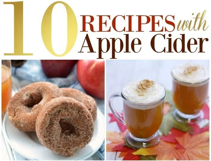 Apple Cider is THE drink for fall. Hot, cold, or in different recipes it's delicious! Enjoy this 10 Recipes with Apple Cider Roundup.
