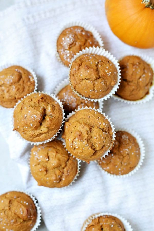 Pumpkin Honey Muffins sweetened with honey and not sugar.