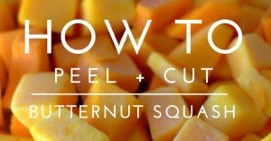 How to Peel and Cut Butternut Squash picture for facebook.