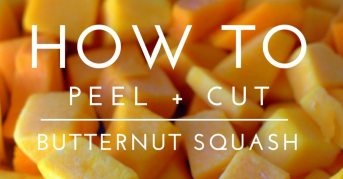 How to Peel and Cut Butternut Squash - FB
