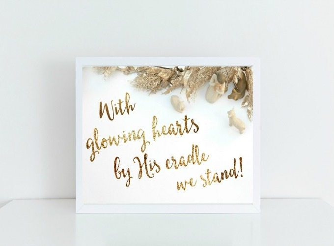 FREE Christmas Printable that is inspired by the lyrics of O Holy Night!