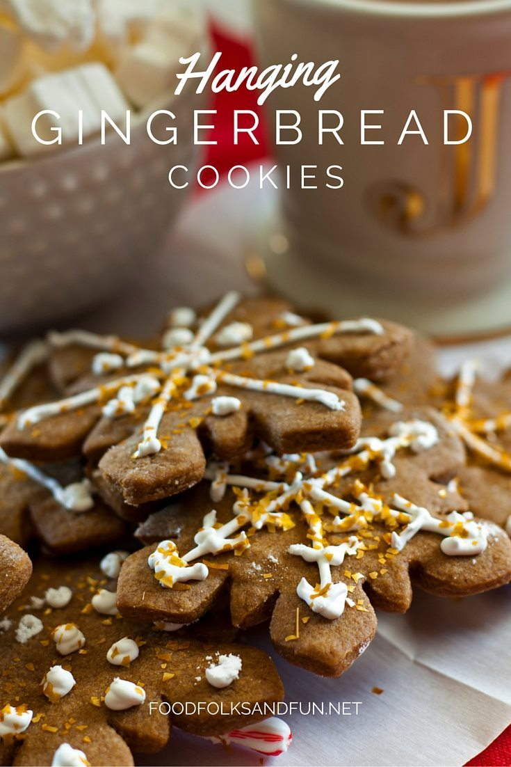 This Hanging Gingerbread Cookie recipe is a unique spin on the classic that has been shared over 100 thousand times. Just add a small candy cane to the back and hang the cookies from a cup of cocoa!This recipe has been shared over 100,000 times! via @foodfolksandfun