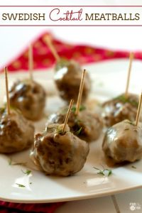 Swedish Meatballs are the perfect bites for game day, holidays, or even meal time. You can even make them head of time!