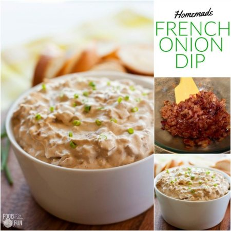 This homemade French Onion Dip recipe will make you ditch the packet for good! People will be begging you for the recipe so they came make this creamy goodness at home!