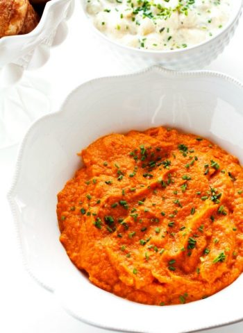 Carrot Puree in a large bowl