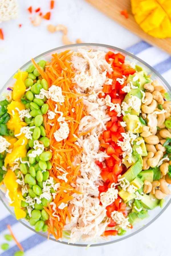 Simple Asian Raman Noodle Salad recipe