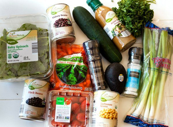 Garden Bean Salad Ingredients