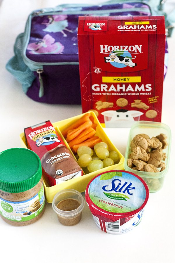 Ingredients needed for easy and healthy lunch boxes