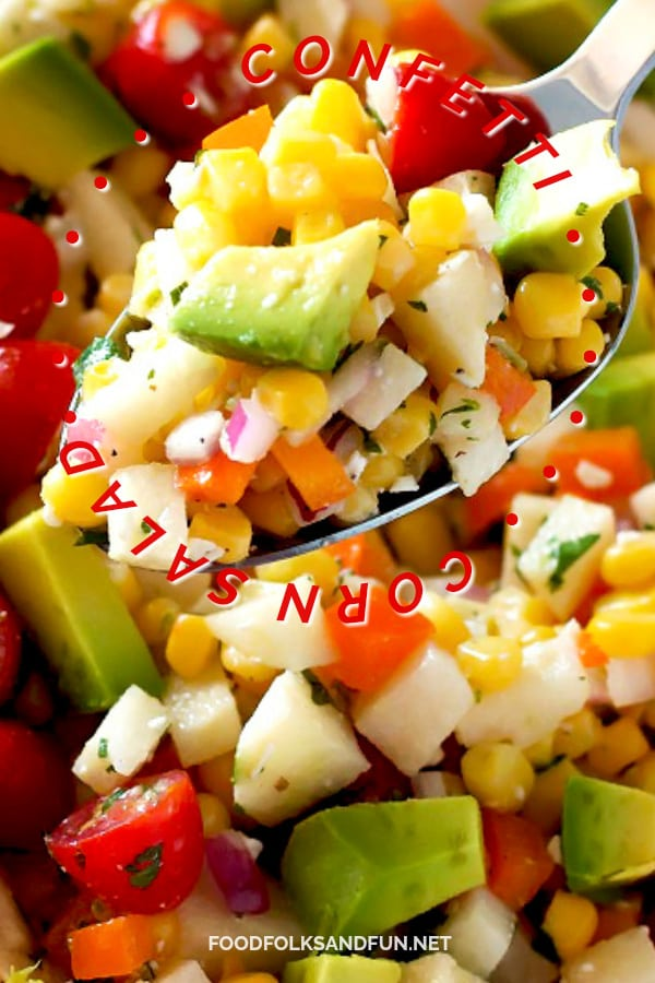 Light, refreshing Corn Salad recipe.