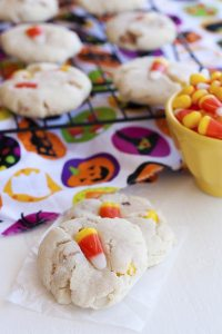 These Sweet and Salty Candy Corn Cookies are the perfect Fall treat for when you want something besides pumpkin or apple! The base recipe is Paradise Bakery's world famous sugar cookie recipe, and I give 15 different variations on it so you can use this delicious recipe year-round!