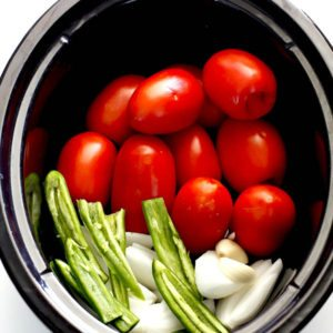 Ingredients needed for Slow Cooker Salsa