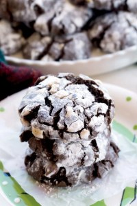 Chocolate Crinkle Cookies with Hazelnuts