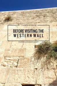 Before making your first trip to the Western Wall, please consider these 7 things to know before visiting the Western Wall.