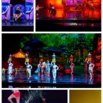 A collage of performers during the Devdan Show-Treasure of the Archipelago.