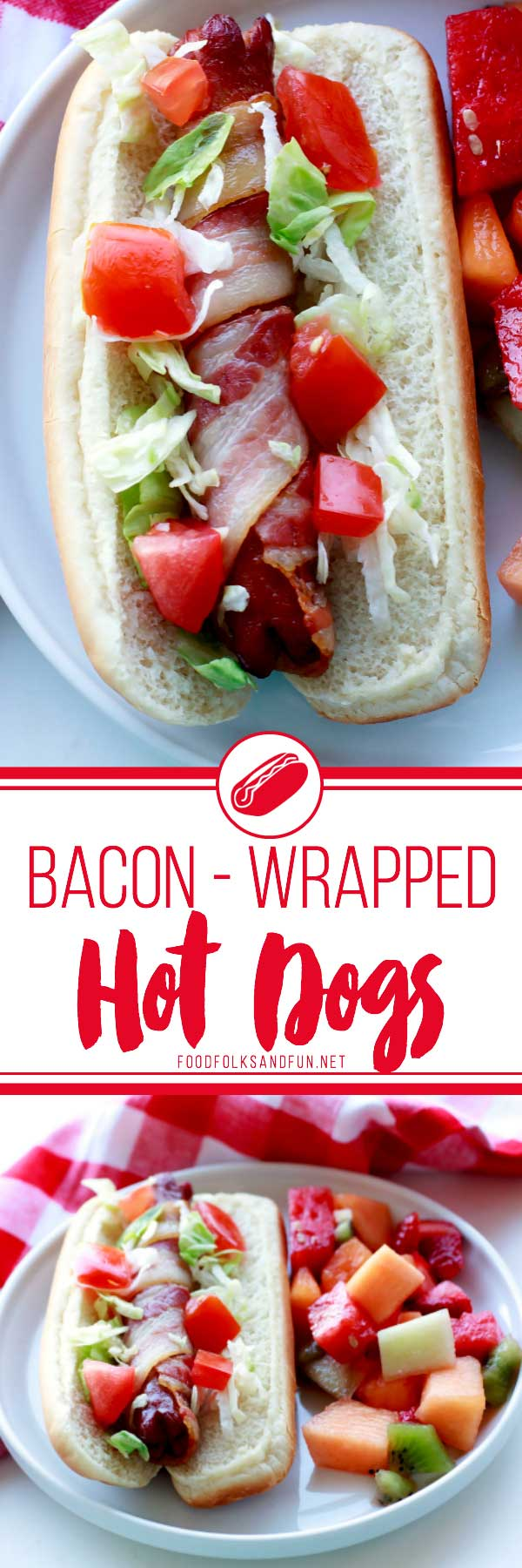 Take the humble hot dog to the next level with this Bacon Wrapped Hot Dogs Recipe. Both baking and grilling instructions are included in this recipe!
