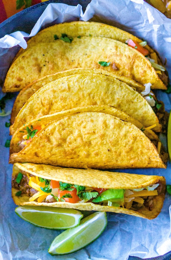 These Picadillo Tacos are crispy ground beef and potato tacos that are easy to make and feed a crowd.