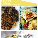 A collage of dinner recipes with text overlay for Social Media