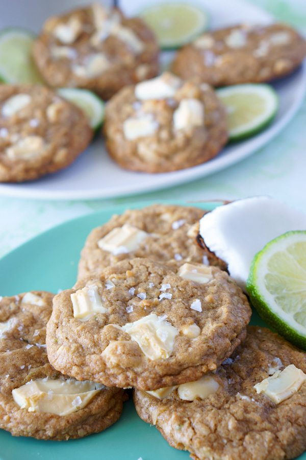 White Chocolate Macadamia Nut Cookies with Lime Zest
