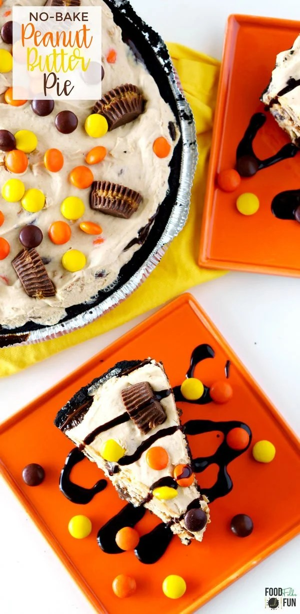Frozen Peanut Butter Pie loaded with Reese's!