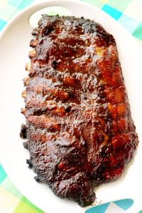 Smoked Spare Ribs with Honey Lime