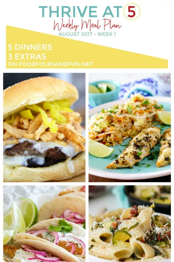 A collage of different dinner ideas with text overlay for pinterest