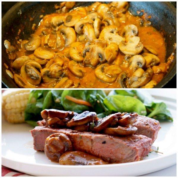 Step 5 of how to make Grilled Steak Marsala
