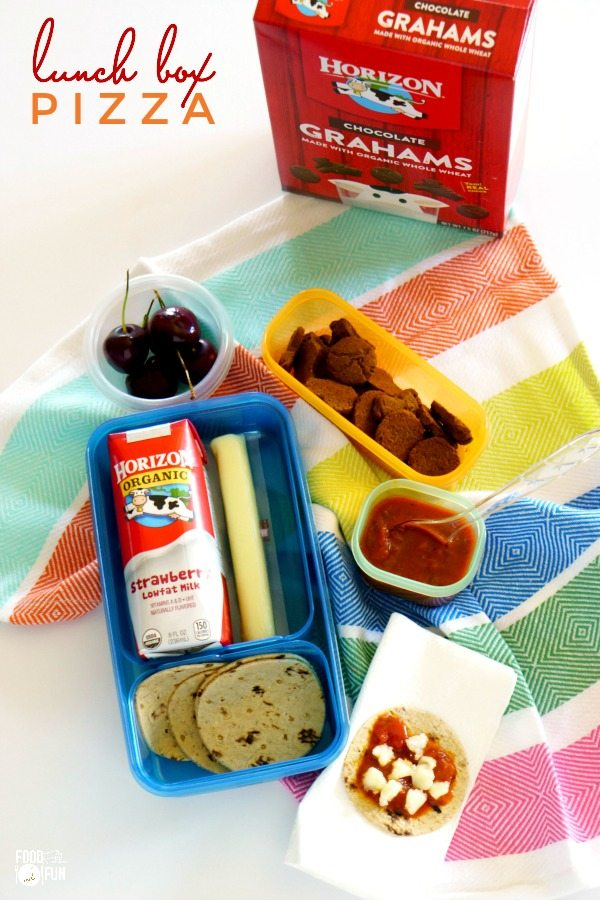 lunch box pizza for back-to-school