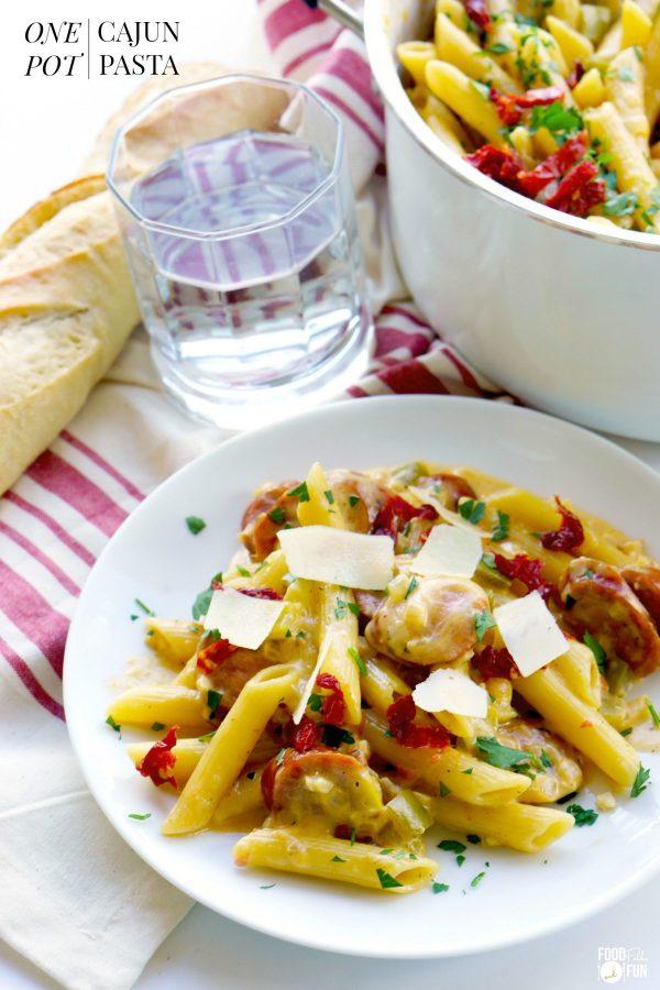 Quick and easy One Pot Cajun Pasta recipe