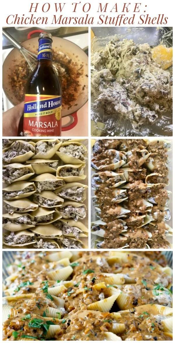 How to Make Chicken Marsala Stuffed Shells with Creamy Marsala Sauce