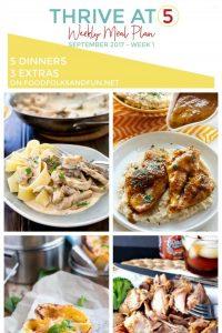 Meal plan for September Week 1