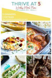 September Week 3 Weekly Meal Plan