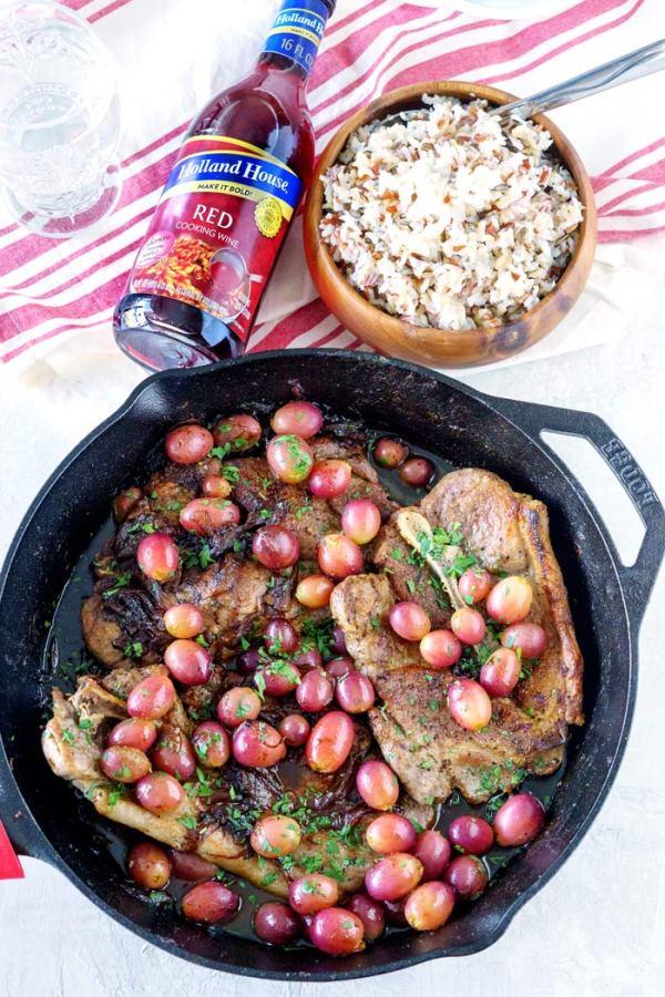 Easy Skillet Pork Chops with Grapes