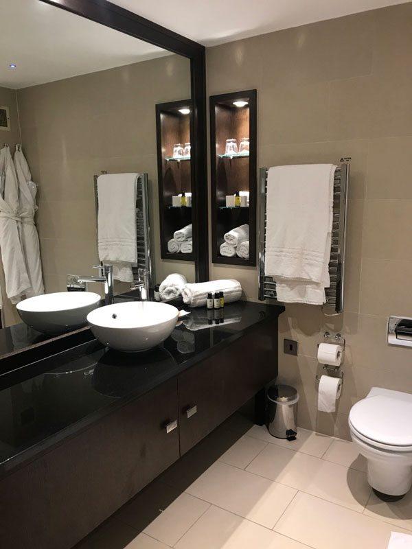 The Lodge at Ashford Castle hotel room bathroom