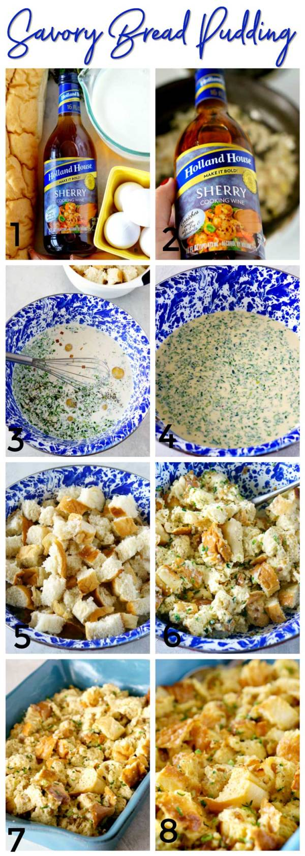 Step-by-Step How to Make Savory Bread Pudding