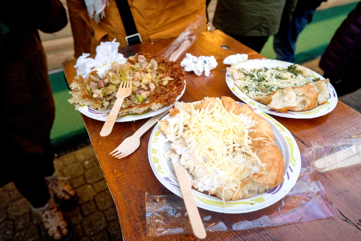 Langos at a Christmas Market