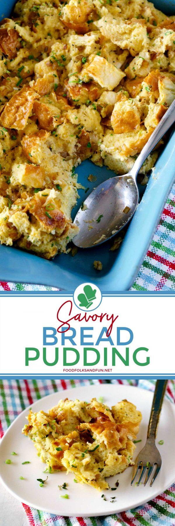 Savory Bread Pudding recipe