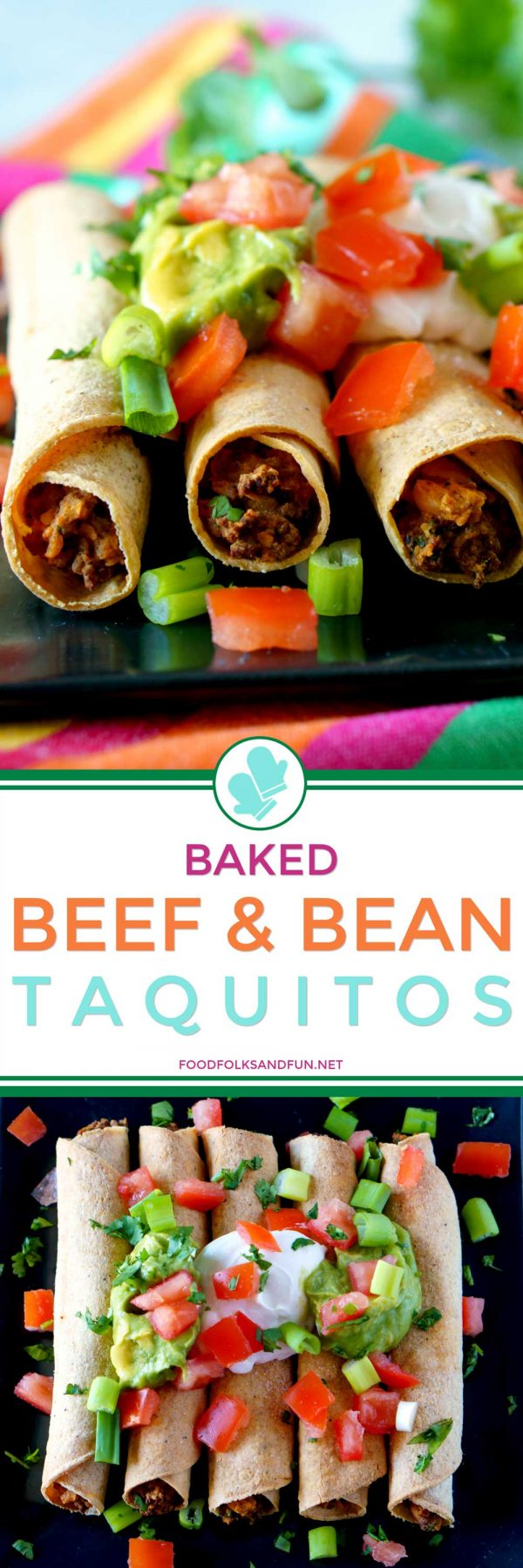 Freezer-friendly Beef Taquitos.